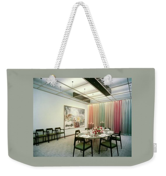 Dining Room In Mr. And Mrs. Williams A.m Weekender Tote Bag