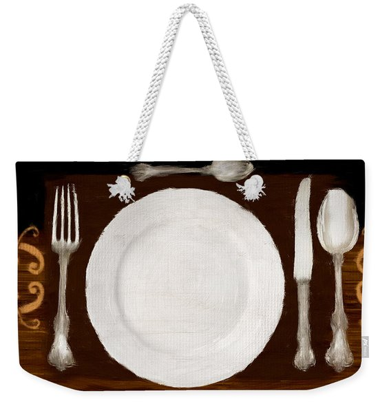 Dinner For One Weekender Tote Bag