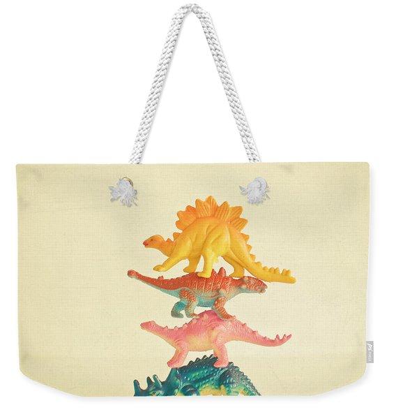 Dinosaur Antics Weekender Tote Bag