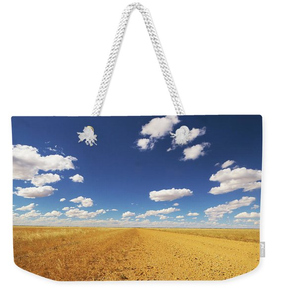 Dirt Road Through Plain Queensland Weekender Tote Bag