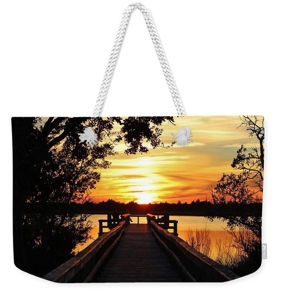 Disappearing Sun  Weekender Tote Bag