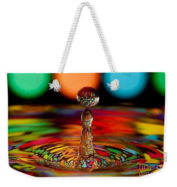 Disco Ball Drop Weekender Tote Bag