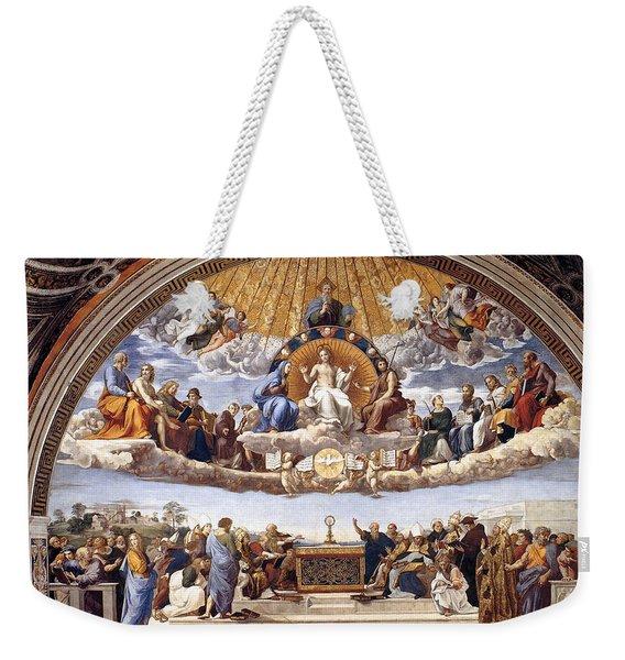 Disputation Of The Eucharist  Weekender Tote Bag
