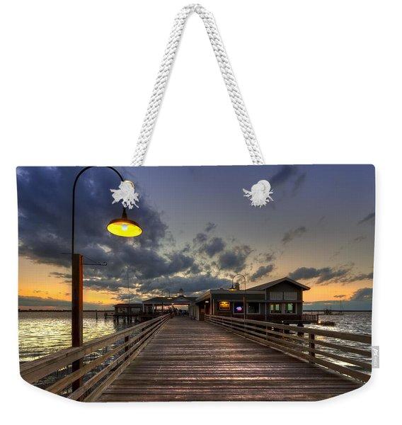 Dock Lights At Jekyll Island Weekender Tote Bag