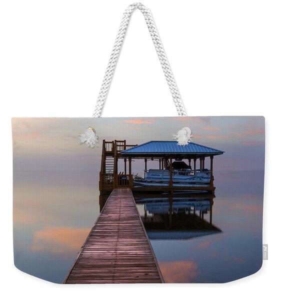 Dock On The Lake Weekender Tote Bag
