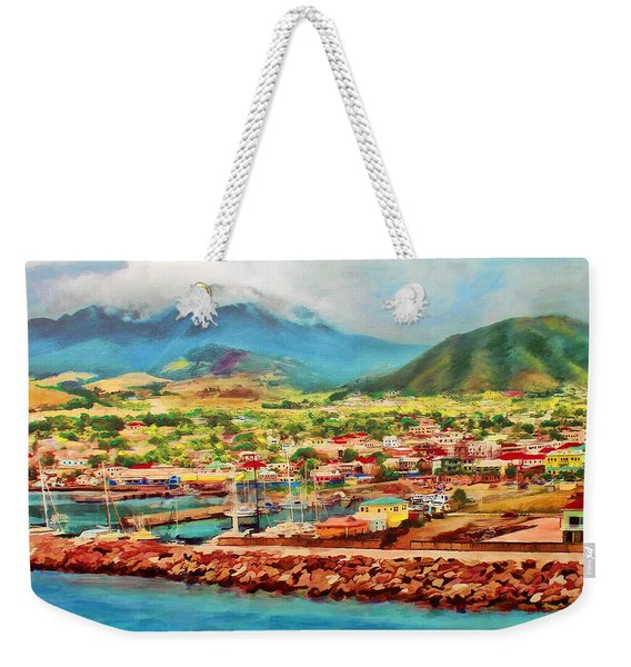 Docked In St. Kitts Weekender Tote Bag