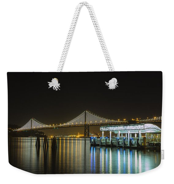 Docks And Bay Lights Weekender Tote Bag