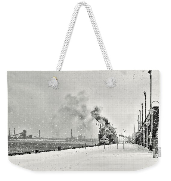 Weekender Tote Bag featuring the photograph Dockyard by Garvin Hunter