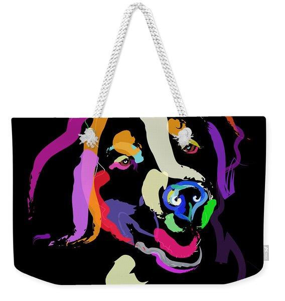 Dog Iggy Color Me Bright Weekender Tote Bag