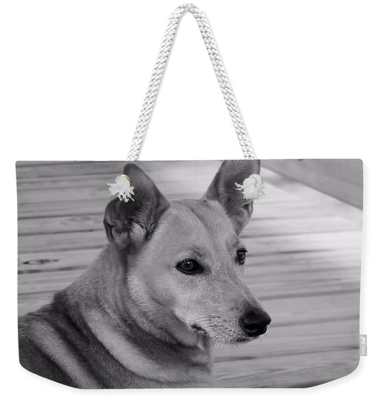 Dog In Black And White One Weekender Tote Bag