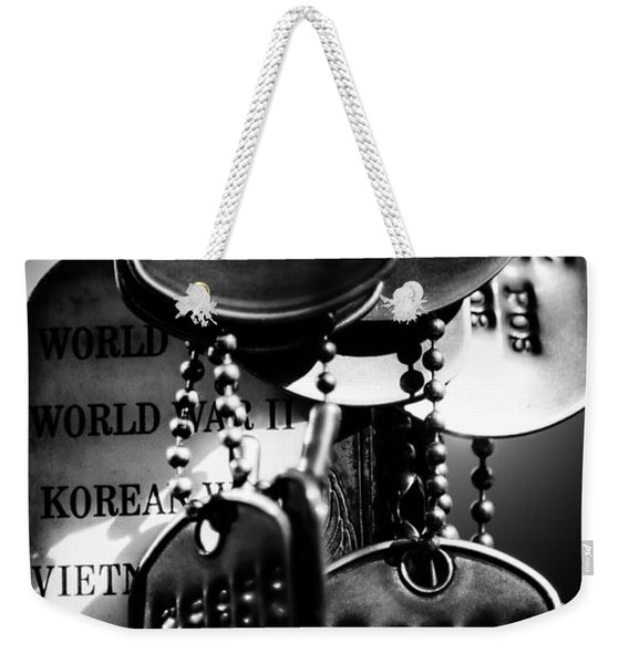 Dog Tags From War Weekender Tote Bag