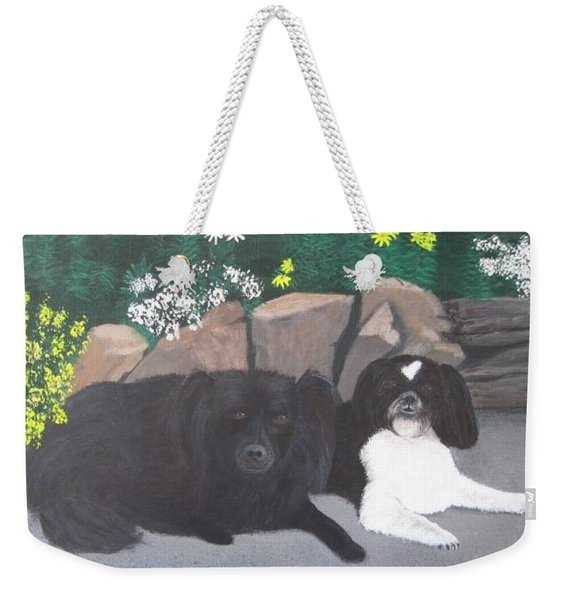 Dogs Daisy And Buttons Weekender Tote Bag
