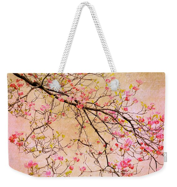 Dogwood  Canvas Weekender Tote Bag