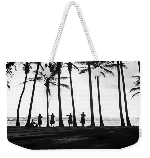 Doing The Hula At Sunset Weekender Tote Bag