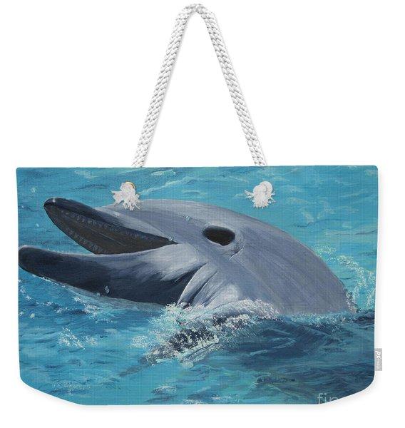 Dolphin At Play Weekender Tote Bag