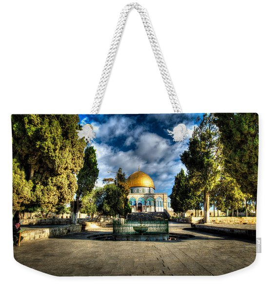 Dome Of The Rock Hdr Weekender Tote Bag