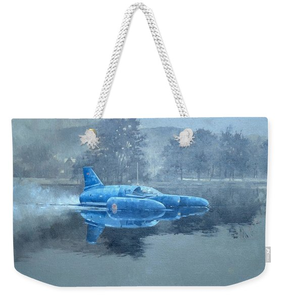 Donald Campbell And Bluebird Oil On Canvas Weekender Tote Bag
