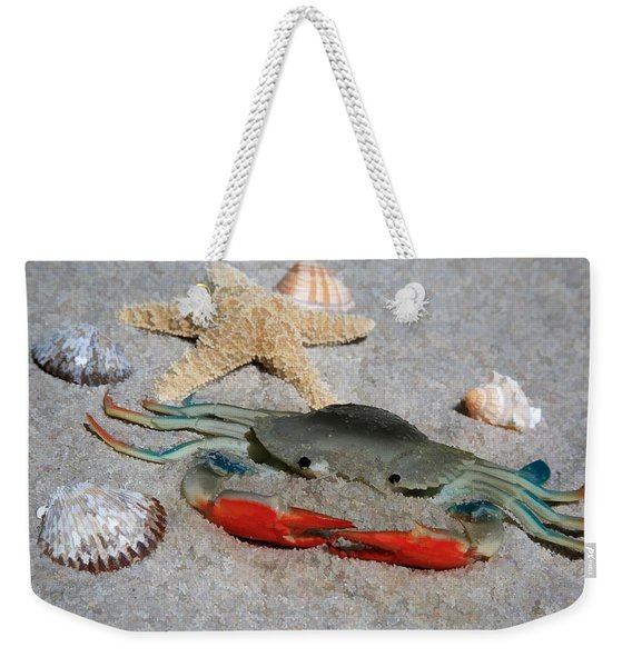 Don't Be Crabby - Life's A Beach Weekender Tote Bag
