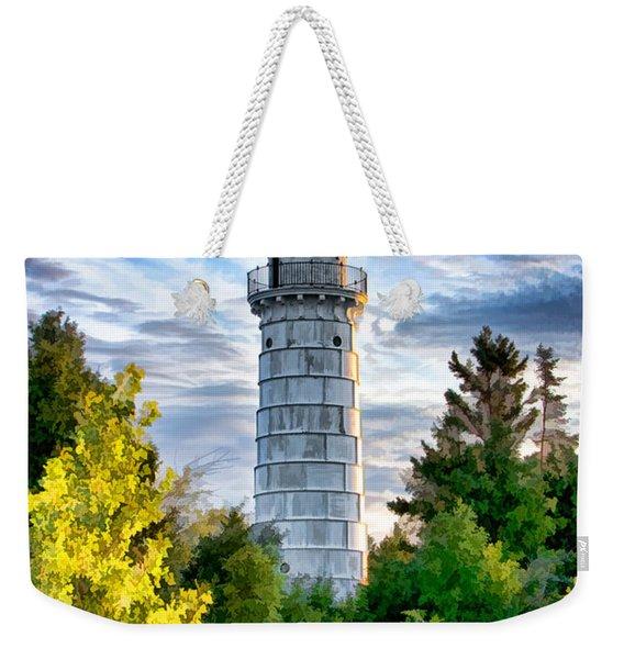 Door County Cana Island Beacon Weekender Tote Bag