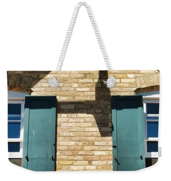 Door County Eagle Bluff Lighthouse Shutters Weekender Tote Bag