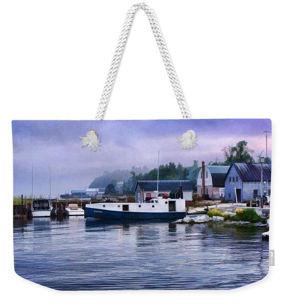 Door County Gills Rock Fishing Village Weekender Tote Bag