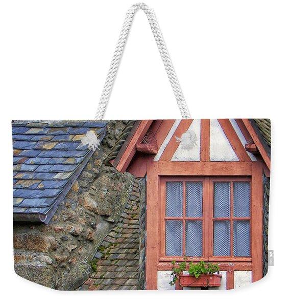 Dormer Window In Mont-saint-michel Weekender Tote Bag