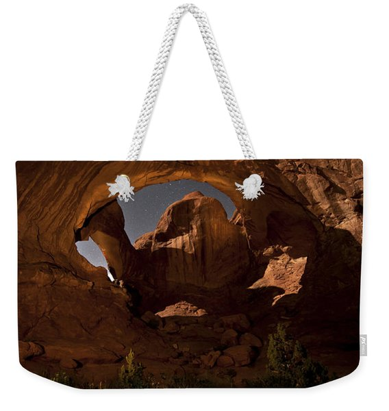 Double Arch In The Moonlight Weekender Tote Bag