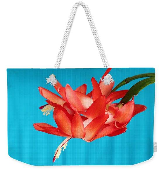 Double Bloom In Red Weekender Tote Bag