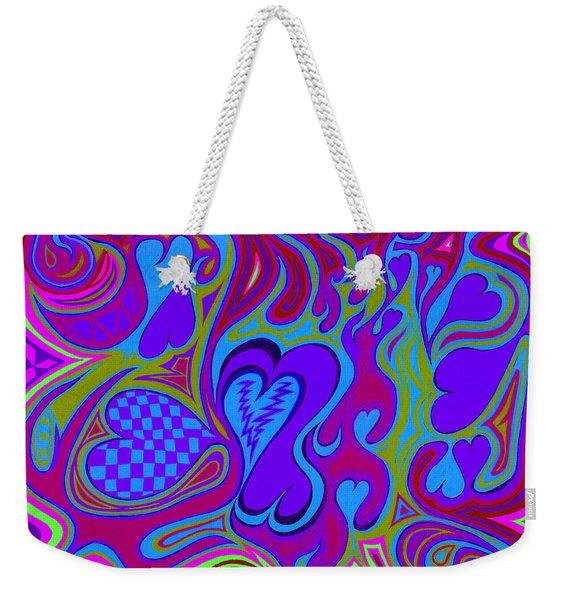Double Broken Heart Weekender Tote Bag