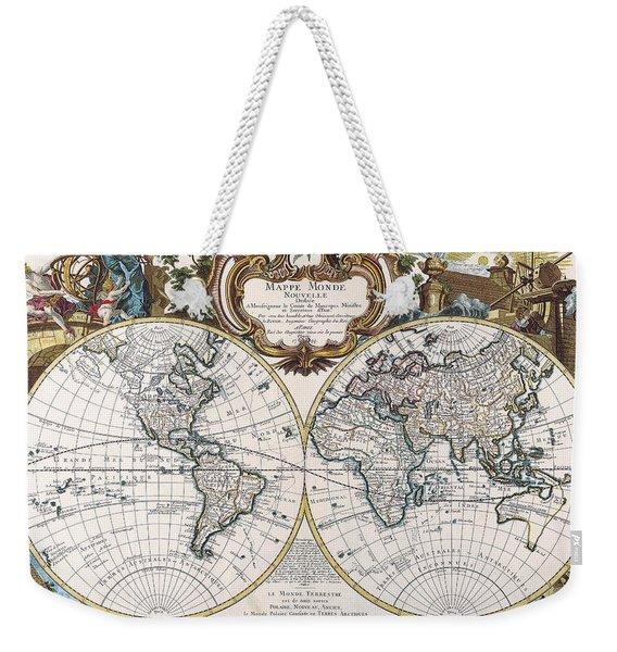 Double Hemisphere Map 1744 Weekender Tote Bag