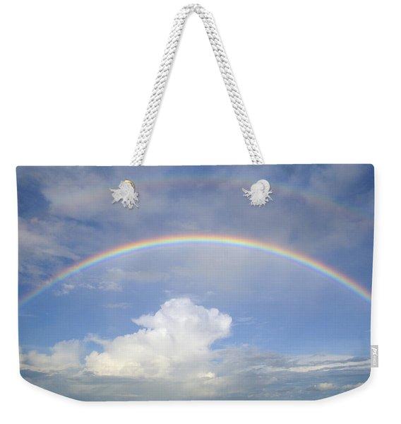Double Rainbow At Sea Weekender Tote Bag