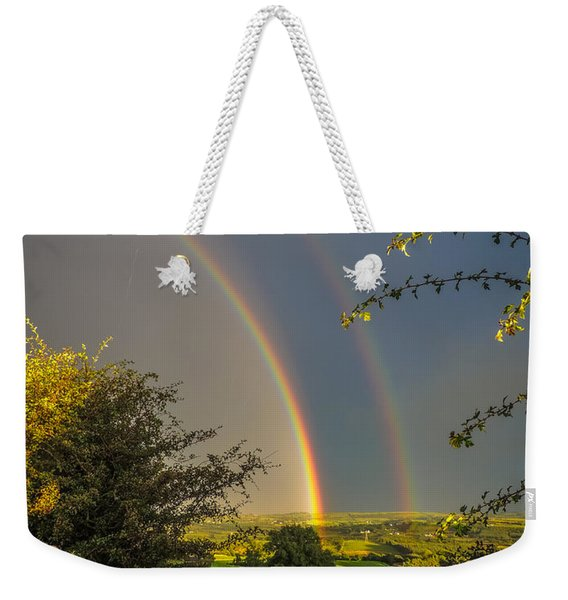 Double Rainbow Over County Clare Weekender Tote Bag