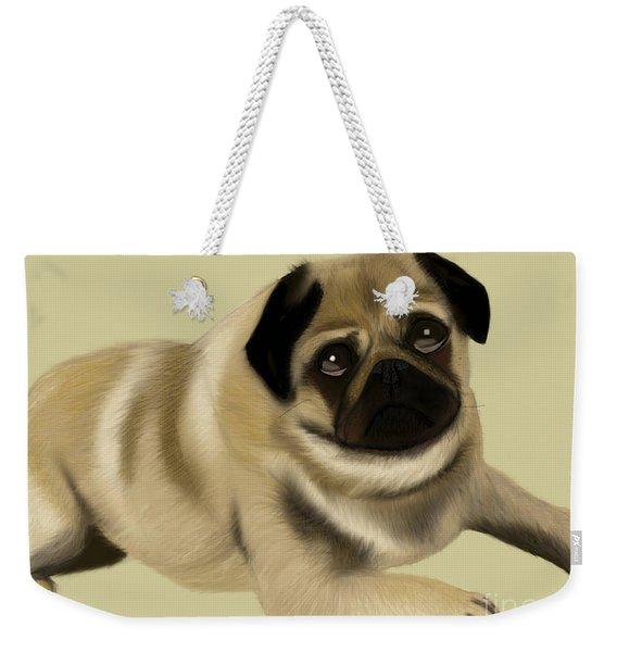 Doug The Pug Weekender Tote Bag