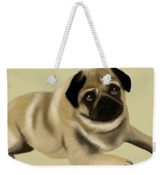 Doug The Pug Weekender Tote Bag