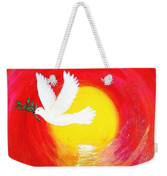 Dove Of Peace Weekender Tote Bag