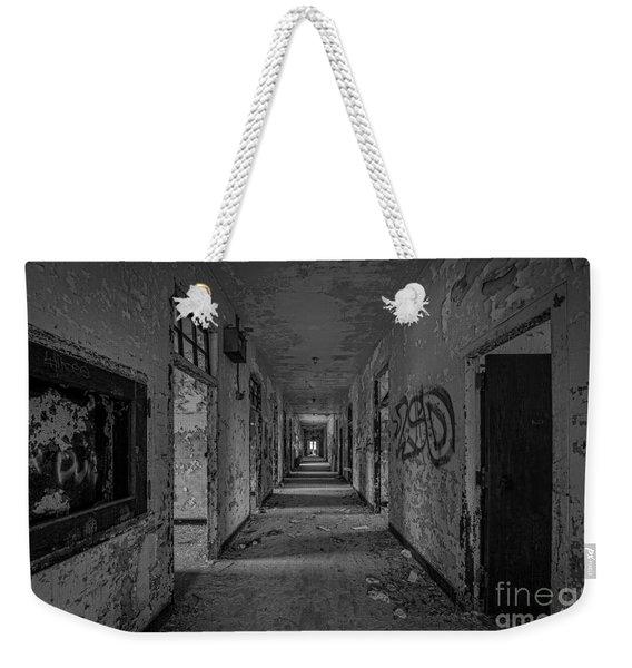 Down The Hall Bw Weekender Tote Bag