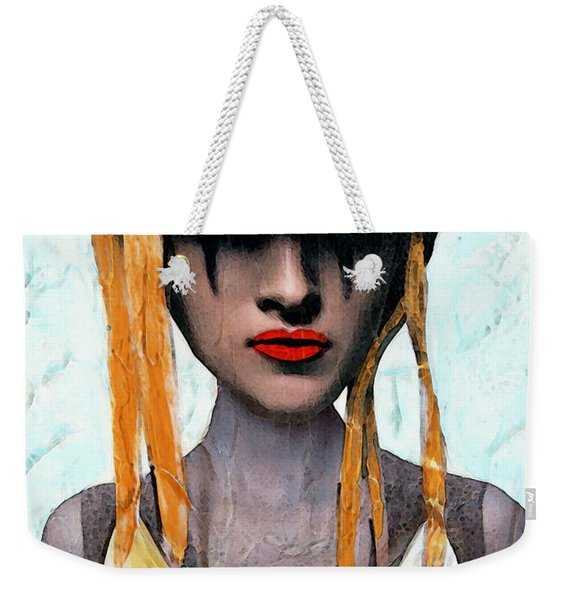 Down The Rabbit Hole - Close Up Mixed Media Art Weekender Tote Bag