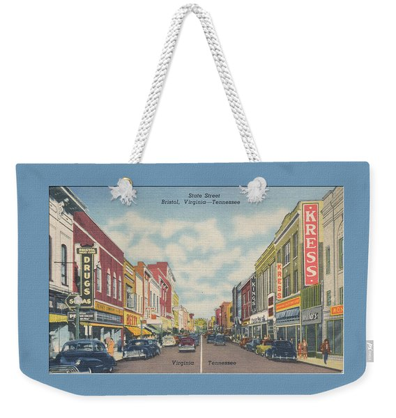 Downtown Bristol Va Tn 1940's Weekender Tote Bag