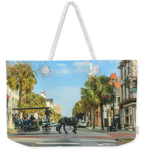 Downtown Charleston Stroll Weekender Tote Bag