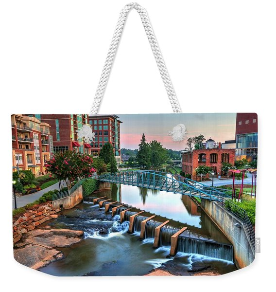 Downtown Greenville On The River Weekender Tote Bag