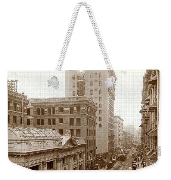 Downtown Los Angeles In 1900 Weekender Tote Bag