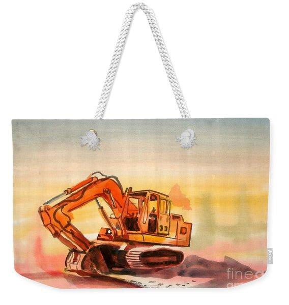 Dozer In Watercolor  Weekender Tote Bag