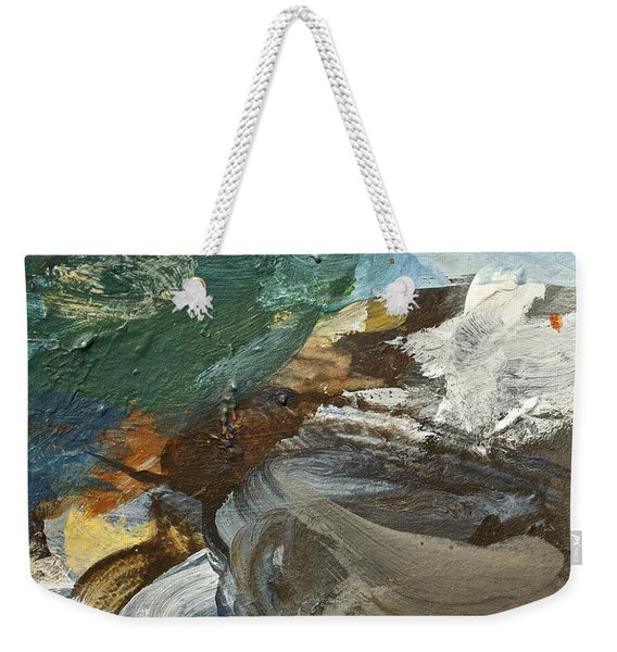 Weekender Tote Bag featuring the painting Dr Driftwood Undertow by Cliff Spohn
