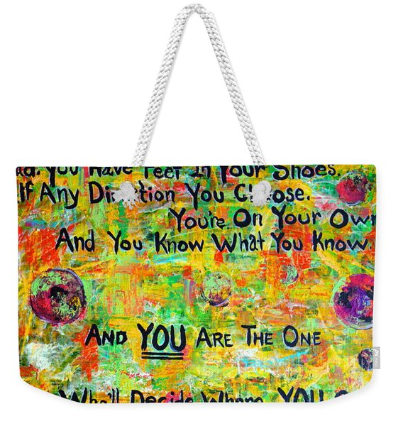 Weekender Tote Bag featuring the painting Dr. Suess by Jacqueline Athmann