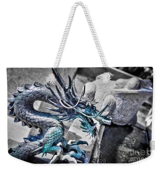 Dragon Fountain Weekender Tote Bag