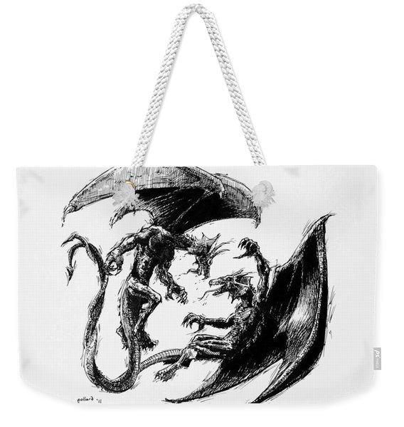 Dragon Love Weekender Tote Bag