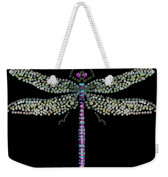 Dragonfly Bedazzled Weekender Tote Bag