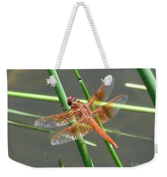 Dragonfly Orange Weekender Tote Bag