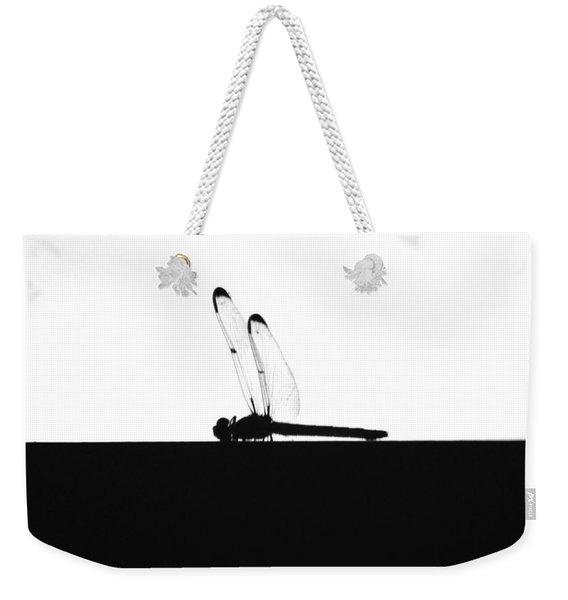 Dragonfly Silhouette Weekender Tote Bag