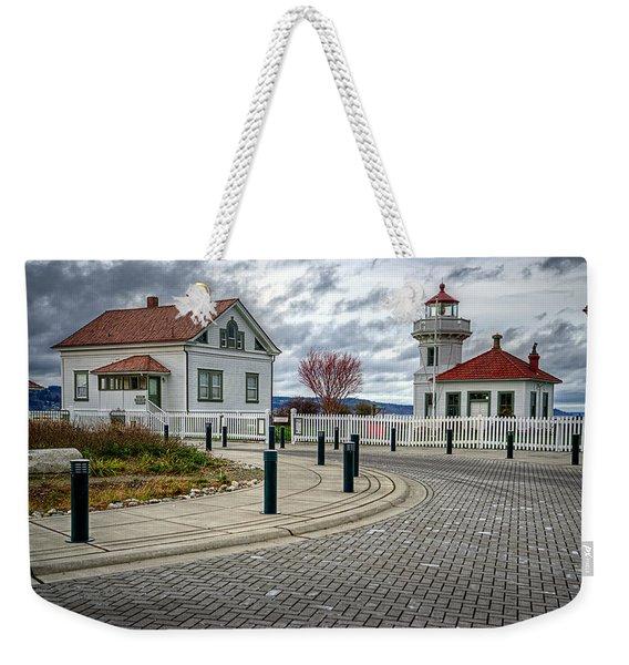 Dramatic Mukilteo Lighthouse Weekender Tote Bag